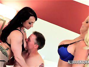 milf detective Alura Jenson three way lovemaking