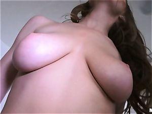 dark-haired Molly Jane caught wanking