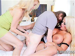 Erica Lauren and Alura Jenson fuckbox pulverizing trio