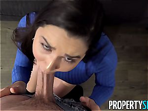 PropertySex bootylicious Real Estate Agent nails draped client