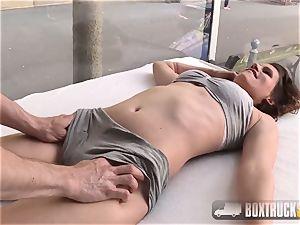 beautiful Lia nails the masseuse