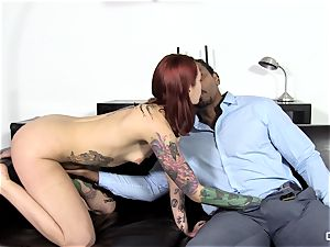 Steak and dt - horny Silvia Rubi eating a thick pecker