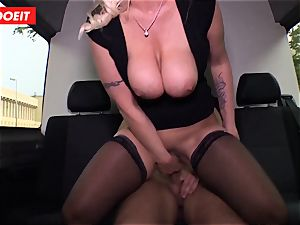 German mummy gets caboose smashed in xxx bus fuck-a-thon