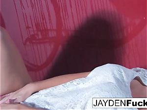 Jayden Jaymes Gets kinky Against a red Wall