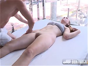 astounding Eva Briancon gets frigged in Public