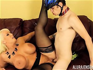 Mormon meets Alura Jenson and shoots a load two times for her