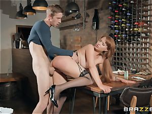 Danny jamming his ample bone into sizzling red-haired