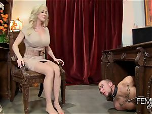ultra-kinky thick bosses Headmistress Brandi love dominates her worker in the office