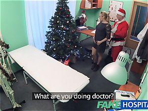 FakeHospital physician Santa shoots a load twice this year