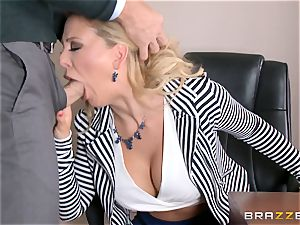 milf boss Cherie Deville gets shafted by a enormous dicked employee