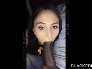 BLACKEDRAW horny black-haired wife luvs ebony prick in her hotel apartment
