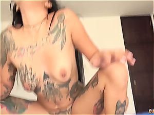 Tattoed Colombian honey gets humped by the finest