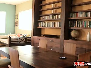 Eva Lovia catches her study accomplice filming her and her stepmom getting bizarre
