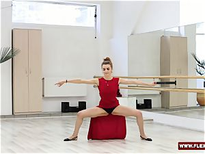 crimson clothed nubile Zadornaya is a professional