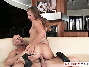 Jillian Janson has petite knockers and loves to get freaky