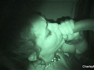 Night vision plowing with super steaming Charley haunt