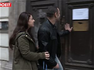 LETSDOEIT - insane French chick Gets torn up In Budapest