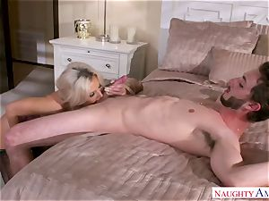 My friend's whorey stepmother Nina Elle fucks my youthful shaft