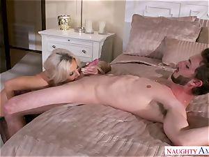 My friend's whorey stepmother Nina Elle fucks my youthful shaft