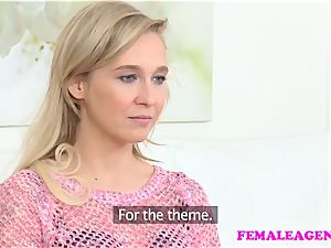 FemaleAgent Agent boinks timid platinum-blonde with fuck stick