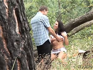 german teenage banged in the woods