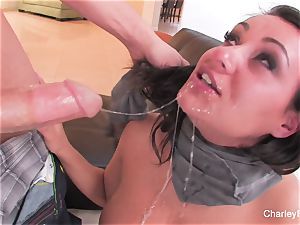 dark-haired beauty Charley gets a raunchy romping