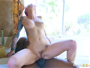 Monique Alexander humping a dark-hued stiffy