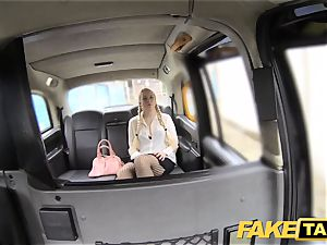 fake cab blond likes aged studs in backseat of cab