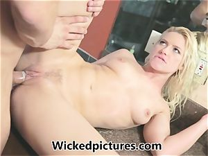 Anikka Albrite caught steamy and humid after a douche
