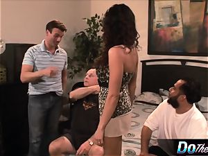 Ariella lets a guy plow her in front of her husband