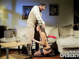 mischievous fuckdoll Doris Ivy is being predominated by a perver