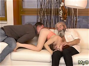 fledgling daddy dom unexpected practice with an elder gent
