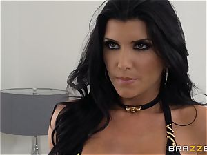 Romi Rains tastey muff is toughly drilled