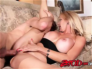 steaming cougar Alexis Fawx bashed stiff