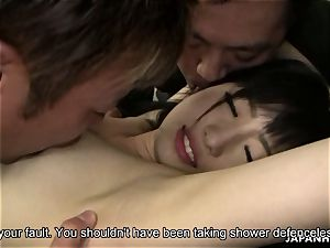 trampy japanese stunner getting her moist cootchie finger boinked