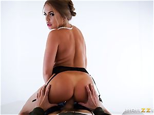 Alessandra Jane monster hard-on blowing on VR