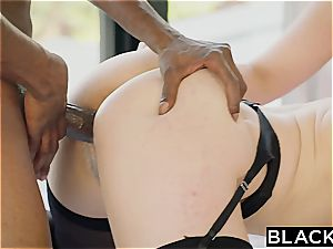 Angela milky and Lena Paul make a big black cock disappear behind their natural curves