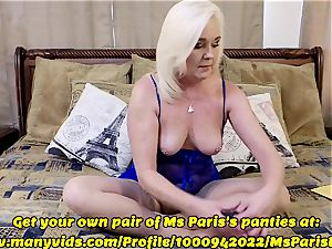 Ms Paris demonstrates Her Sold ManyVids panty preparation