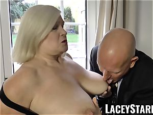 LACEYSTARR - kinkiest grandmother analled before money-shot