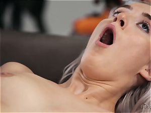 splattering g/g fun with Abigail Mac and Cadence Lux