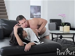 kinky exotic cougar Priya Rai gets plumbed by Johnny Castle