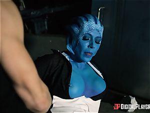 Space pornography parody with torrid alien Rachel Starr
