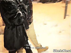 Russian babe multiracial nailing