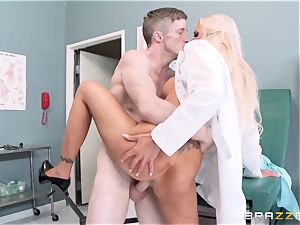 big splooged medic Nina Elle entices her favourite patient