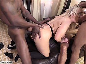 5 dark-hued studs and a sex-positive blondie Angel Allwood is well-prepped for screwed