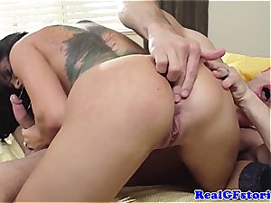 Housewife Romi Rain naughty in the morning for pipe