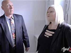 AgedLovE Mature woman Lacey Starr throating rigid man rod