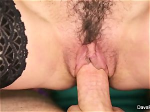 brown-haired sweetheart Dava gets poked point of view style