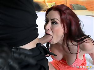ginger-haired wife Monique Alexander gets poked in front of her spouse