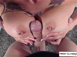 Anna Bell Peaks is ravaged by a immense prick in pov fashion